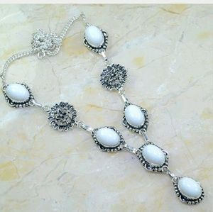 White Jade .925 Sterling Silver Necklace
